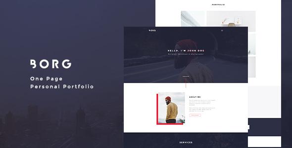 Borg - One Page Personal Portfolio