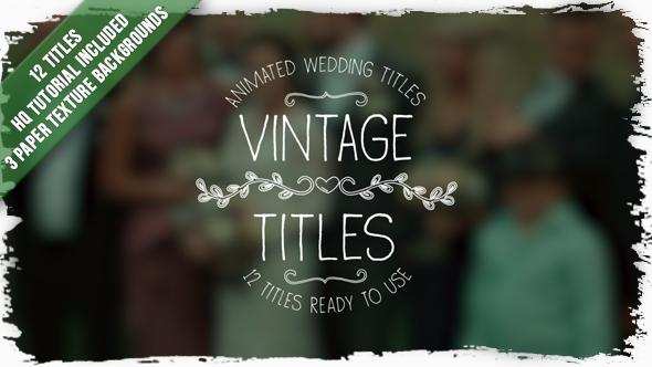 VideoHive Vintage Titles 19453651