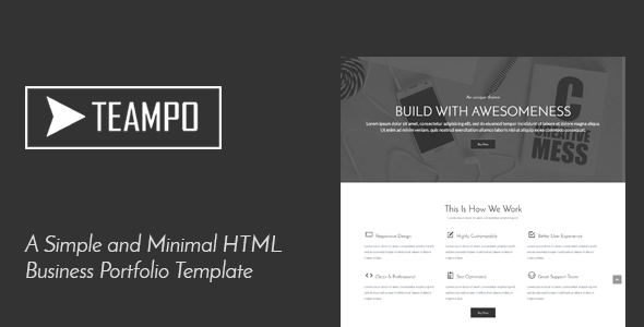 Tempo | One Page Business Portfolio HTML Template