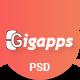 Gigapps - App Landing PSD Template