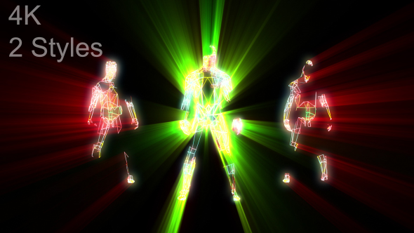 VideoHive 3 Dancing Guys With Light Rays 19454431