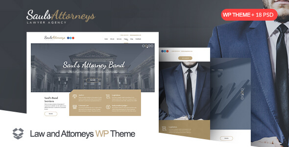 Download SaulsAttorneys - Lawyers & Attorneys WordPress Theme