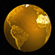 3D Earth Globes : Gold, Silver & Bronze