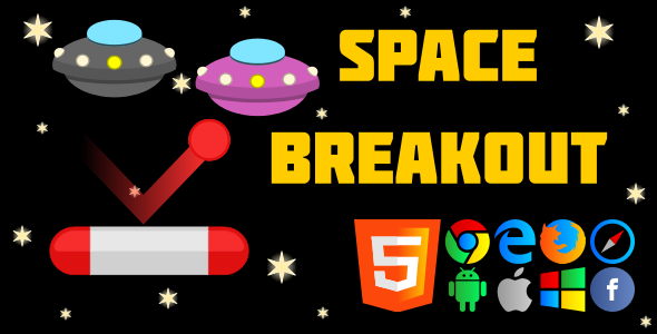 SpaceBreakout - HTML5 Game