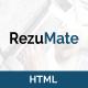 RezuMate - Personal Portfolio Template