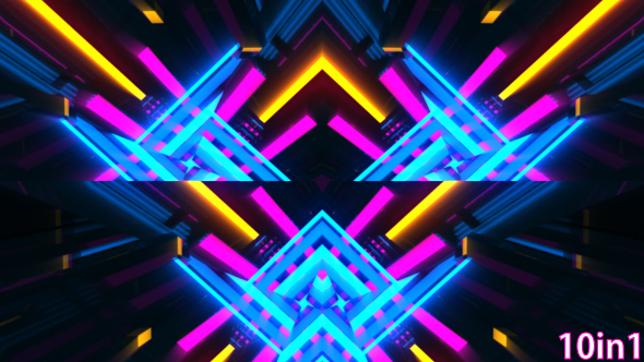 VideoHive VJ Neon Lights Background 19455401