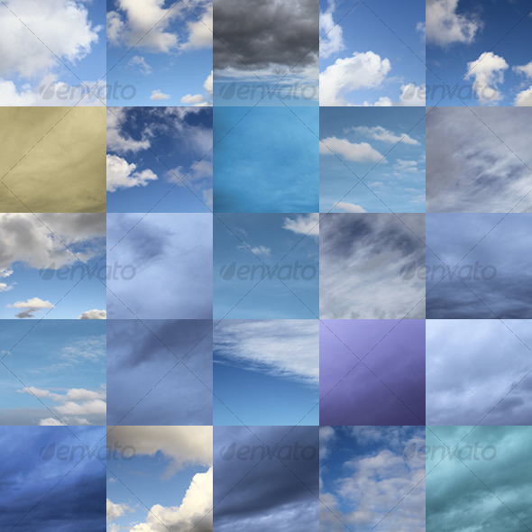 Set of 25 Clouds
