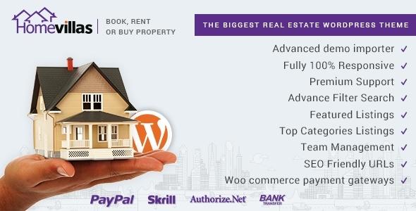 Download Home Villas   Real Estate WordPress Theme