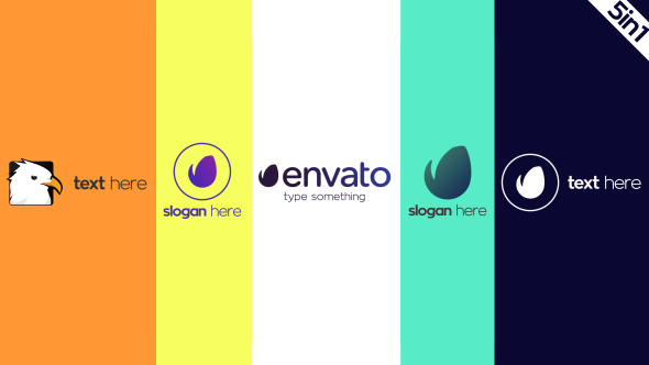 VideoHive Simple Logo Reveal 5in1 19457349