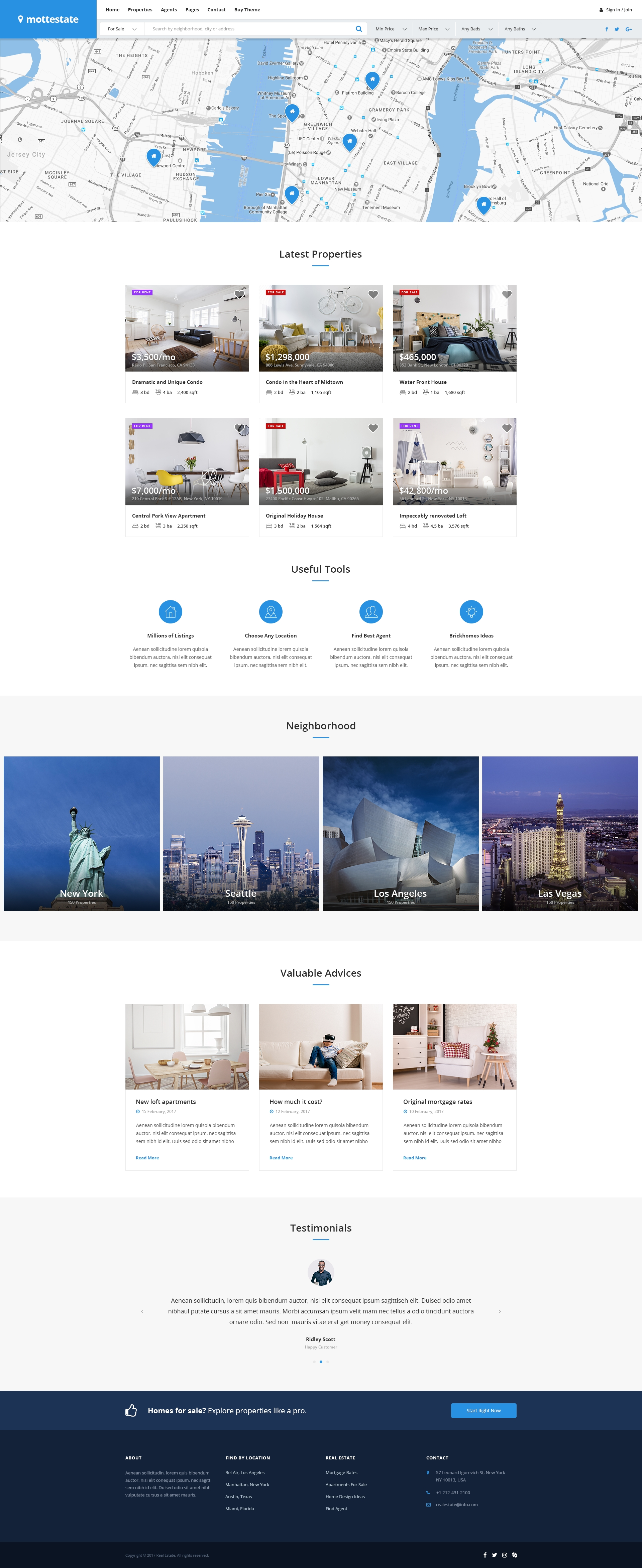 mottestate real estate template by montaukco themeforest mottestate real estate template
