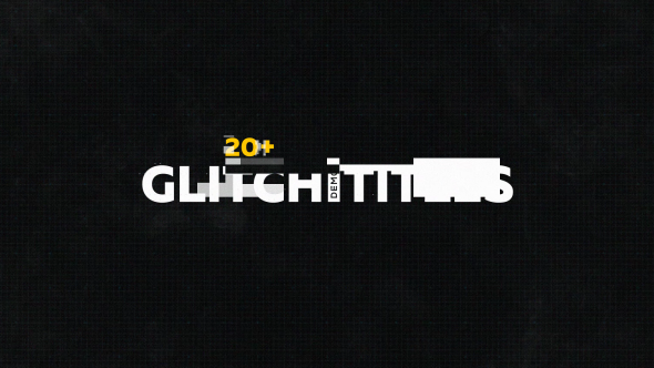 Glitch Titles Pack 20+