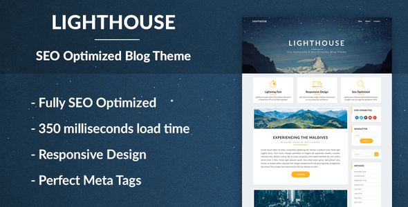 Download Lighthouse Blogger - SEO Optimized and SEO Friendly WordPress Blog Theme for Blogging