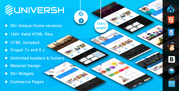 Universh - MultiPurpose Drupal 7 - 8 Theme