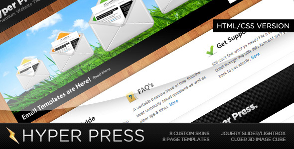 ThemeForest HyperPress A Premium HTML Template 73874
