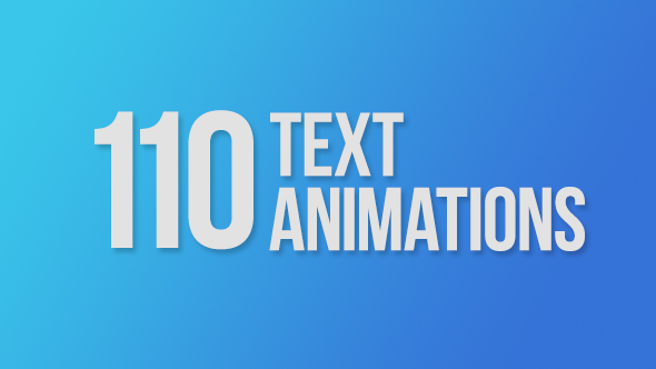 110 Text Animations by c0sm1c | VideoHive