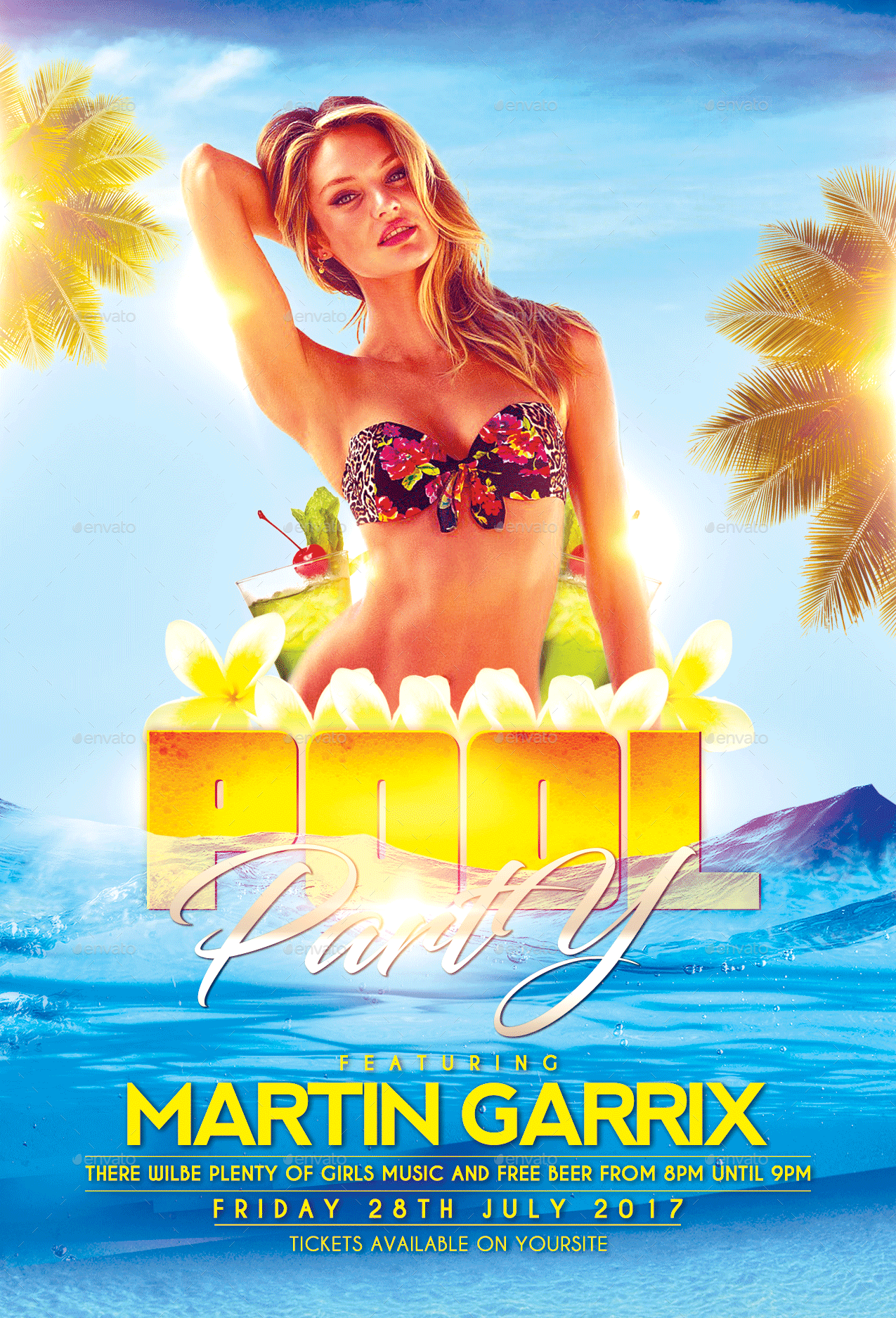 Pool Party Flyer Template by FASdesigner – Pool Party Flyer Template