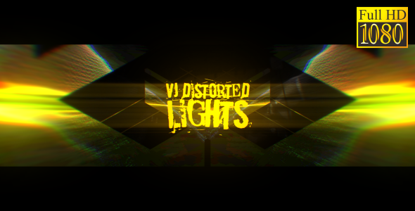 VideoHive VJ Distorted Lights Set 11 19458774