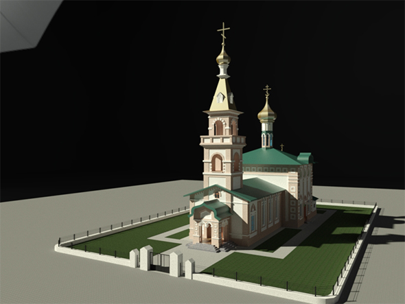3DOcean Ochakov Orthodox Church 19458805