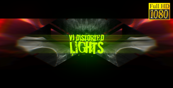 Videohive VJ Distorted Lights (Set 13) 19458838