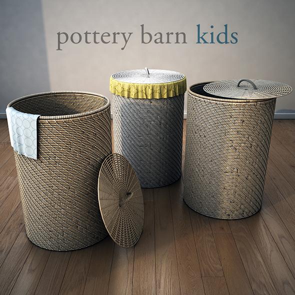 PotteryBarn-Basket-1 - 3DOcean Item for Sale