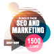 1500 SEO and Marketing Bundle icons