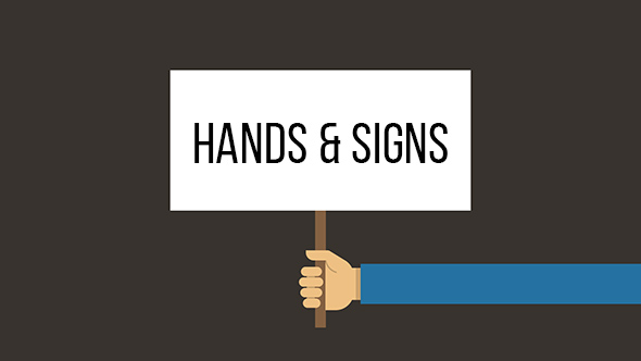 VideoHive Animated Hands with Text Signs 19459017