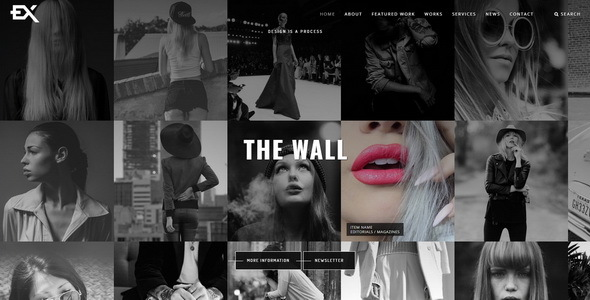 The Wall || Photography Portfolio Template