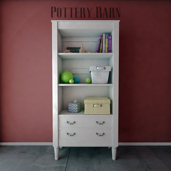 3DOcean Pottery Barn Kids Bookcases 19459137