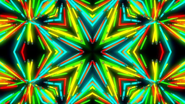VideoHive Light Neon Colored Kaleidoscope 19459237