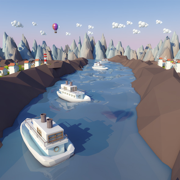 LowPoly World - 3DOcean Item for Sale