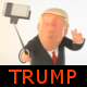 Selfie Logo with Trump Character