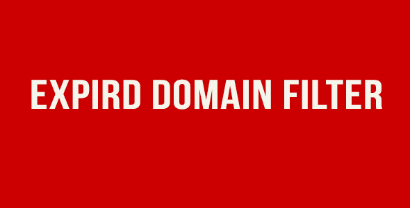 CodeCanyon Expired Domains Filter 19459944