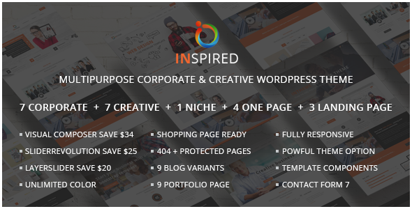 Download Inspired - Multipurpose Corporate and Creative Bootstrap WordPress Theme
