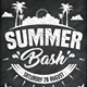 Summer Bash Chalk Flyer