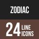 Zodiac Line Multicolor Icons