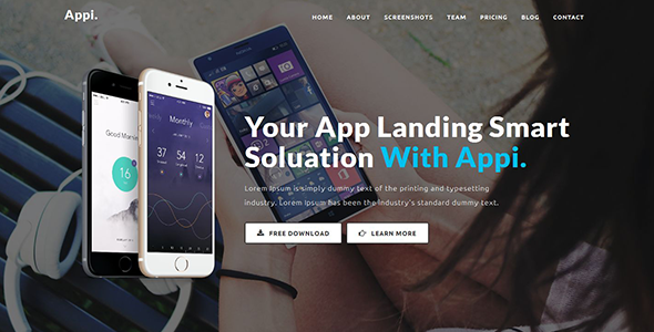 Appi - Responsive App Landing Page