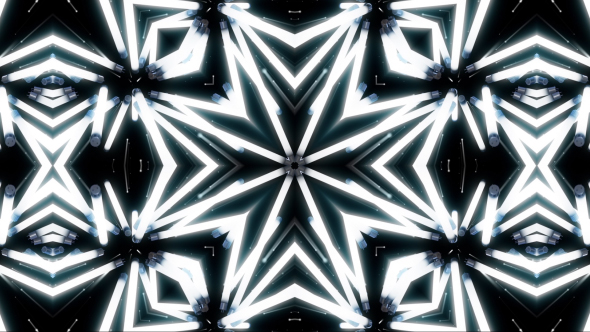 VideoHive Light Neon White Kaleidoscope 19460827