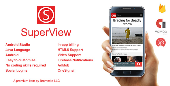 SuperView - WebView App for Android with Push Notification, AdMob, In-app Billing App - CodeCanyon Item for Sale