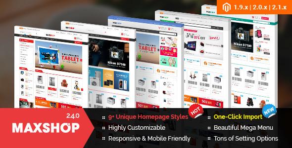 Maxshop - Premium Magento 2 and 1.9 Store Theme