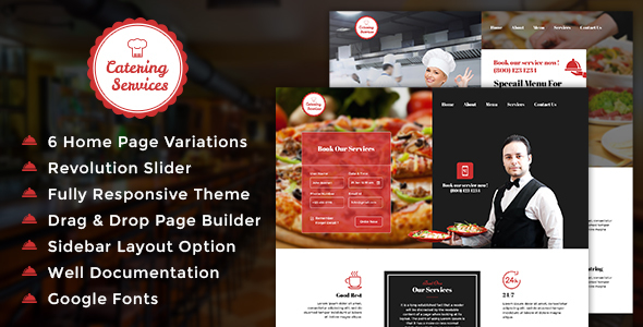 Chef Portfolio Templates from ThemeForest