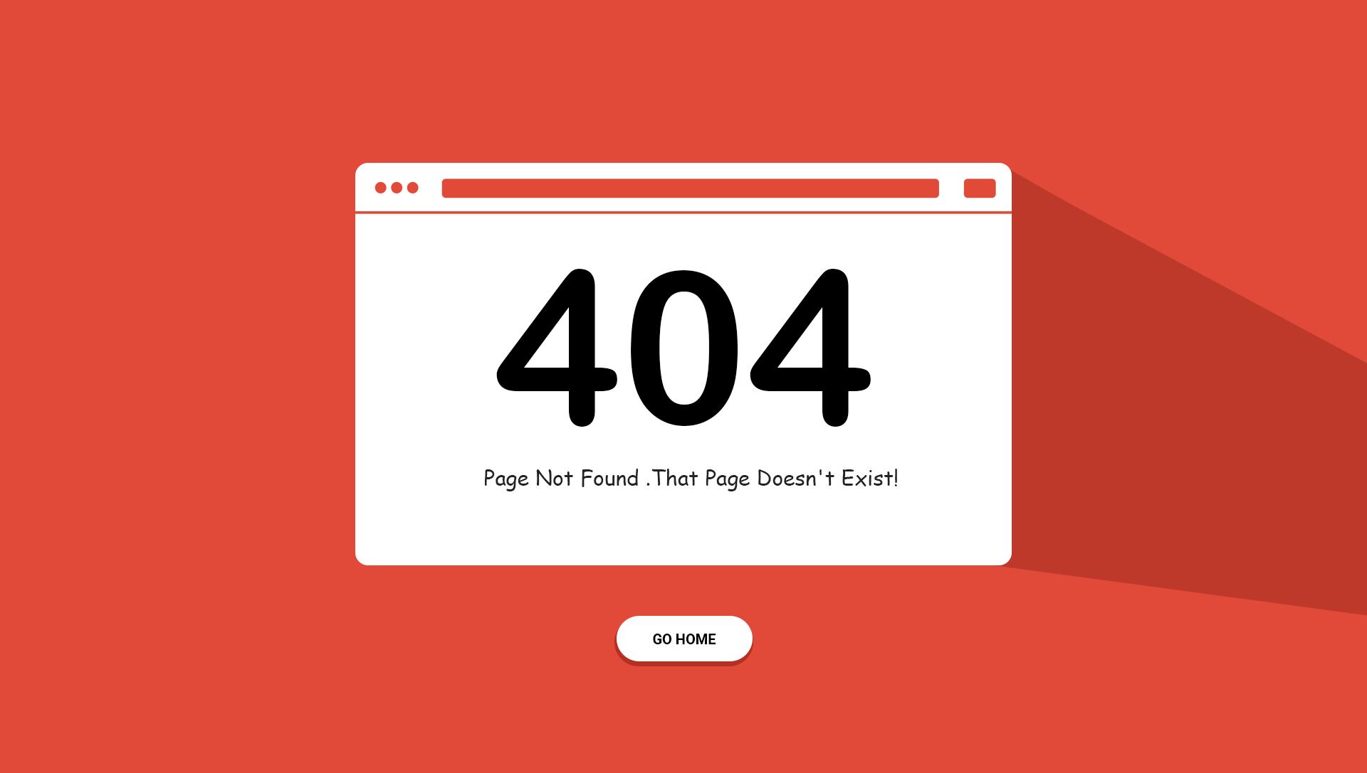 error 404 html шаблон