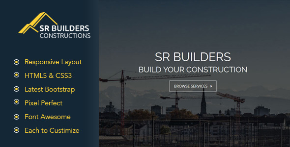 Download SR Construction - Construction Business HTML5 Responsive Template