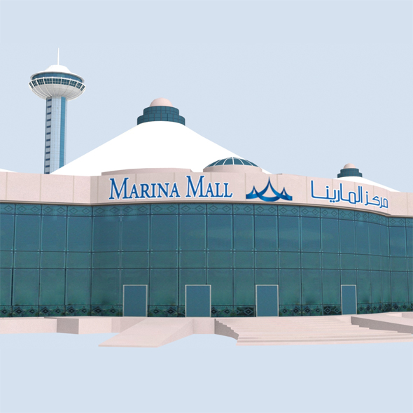 Marina Mall Abu Dhabi Low Poly - 3DOcean Item for Sale