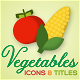 Vegetables Motion Icons & Titles