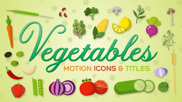 VideoHive Vegetables Motion Icons & Titles 19462708