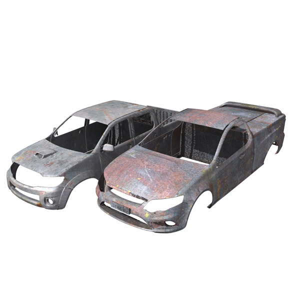 Hilux and Falcon Rusty Vehicle Body - 3DOcean Item for Sale