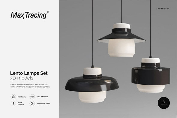 3DOcean Lento Lamps Set 19454322