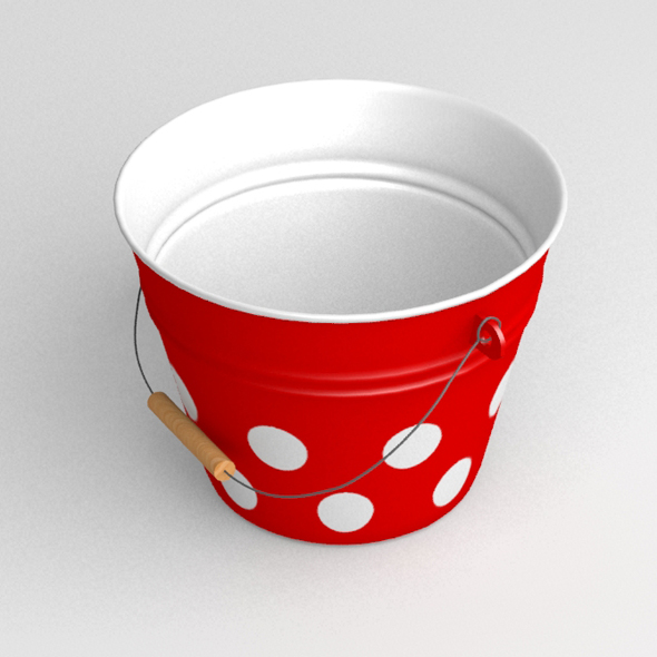 Retro garden bucket - 3DOcean Item for Sale