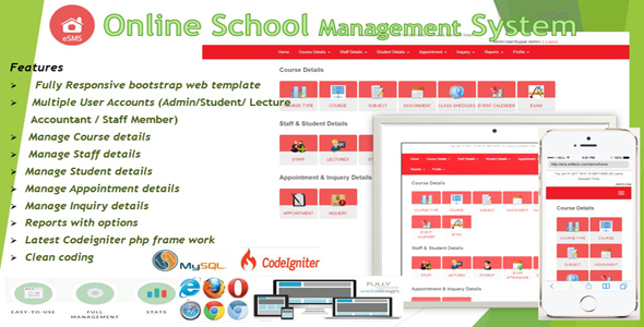 Download eSMS - Online School Management System