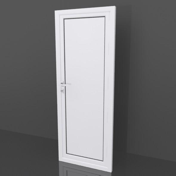 Aluminium door - 3DOcean Item for Sale